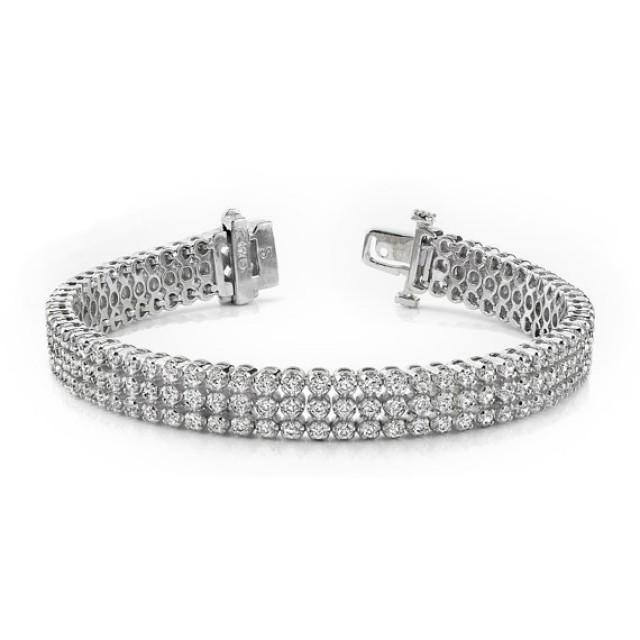 5 25 Carat F SI1 Diamond Bracelet Diamond Bracelets For Women