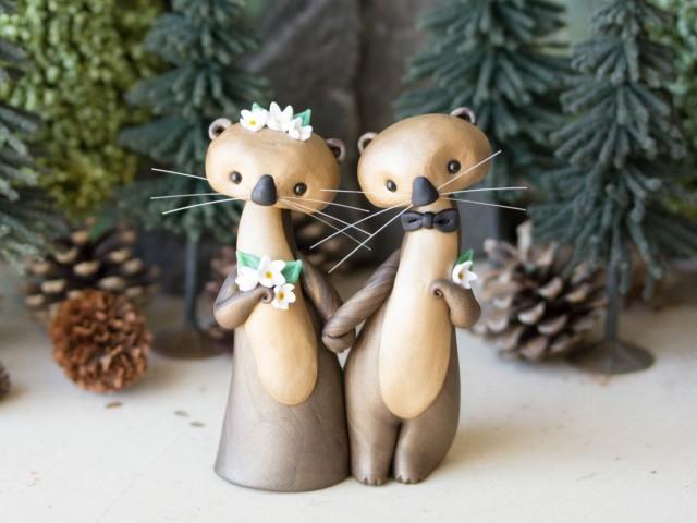 Sea Otter Wedding Cake Topper By Bonjour Poupette #2540047 ...
