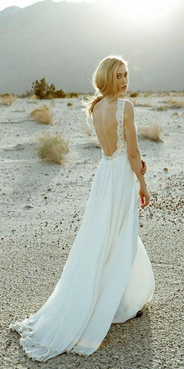 Open Back Beach Wedding Dresses Via Sarah Seven #2540565 - Weddbook