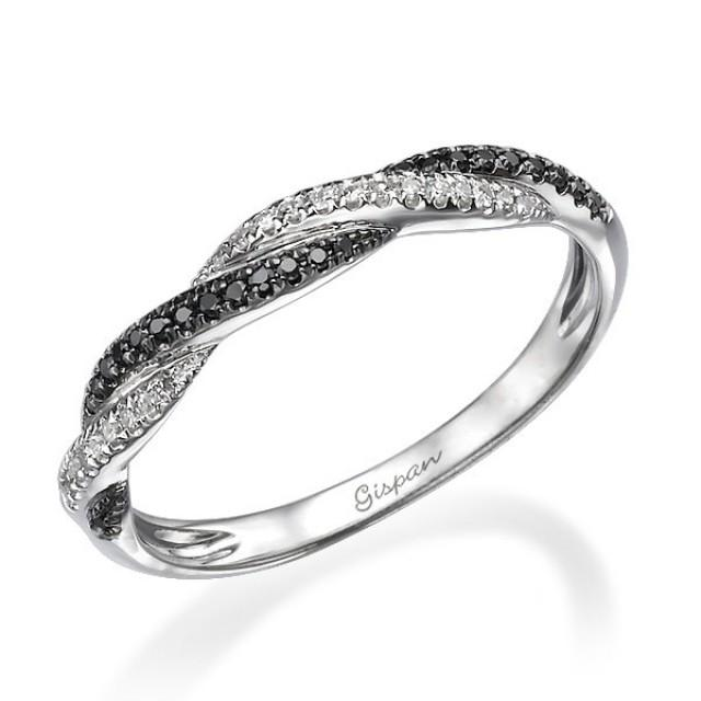 unique engagement ring knot ring braided ring black