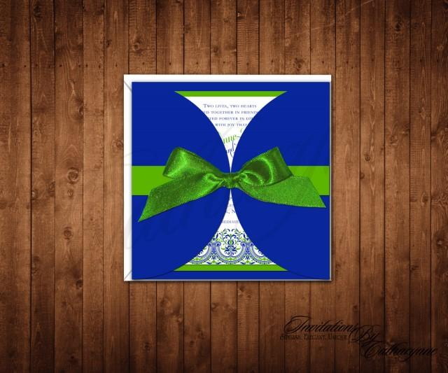 Cobalt Blue Wedding Invitations And Green Spring Summer Navy Lace 2542355