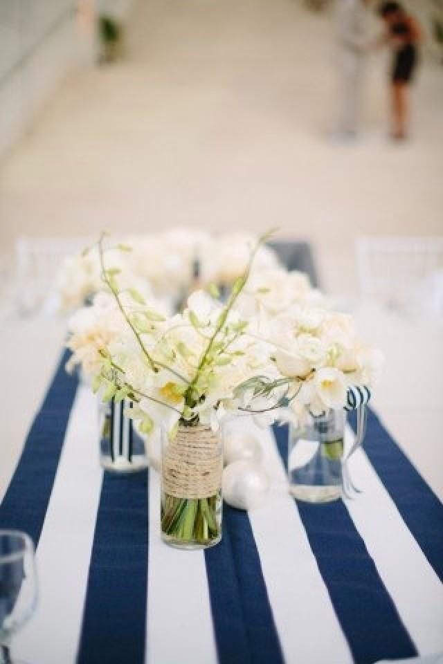 Good Navy And White Striped Table Runner   Nautical Table Runner   Wedding Table  Runner   Kitchen Table Decor   Dining Table   Nautical Wedding #2542893    ...