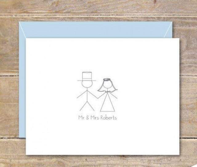 Stick Figure Wedding Thank You Cards Stick Figures