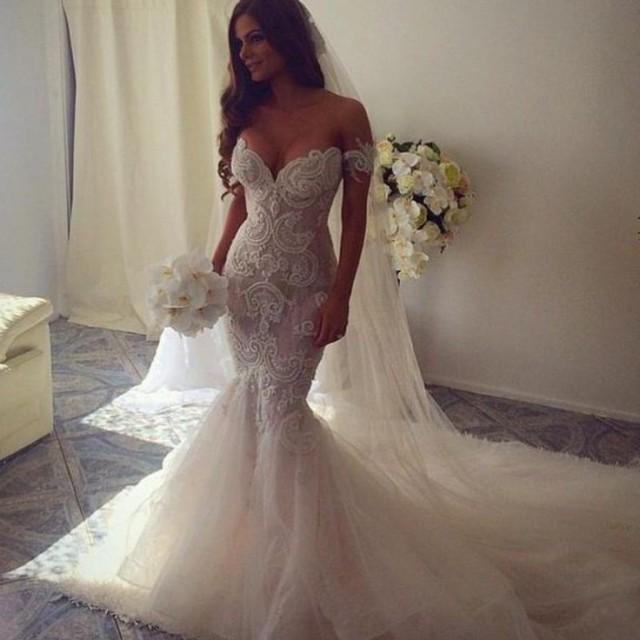 5 Gorgeous Trendy Wedding Themes For 2020: 2016 New Spring Luxury Beaded Trumpet / Mermaid Wedding