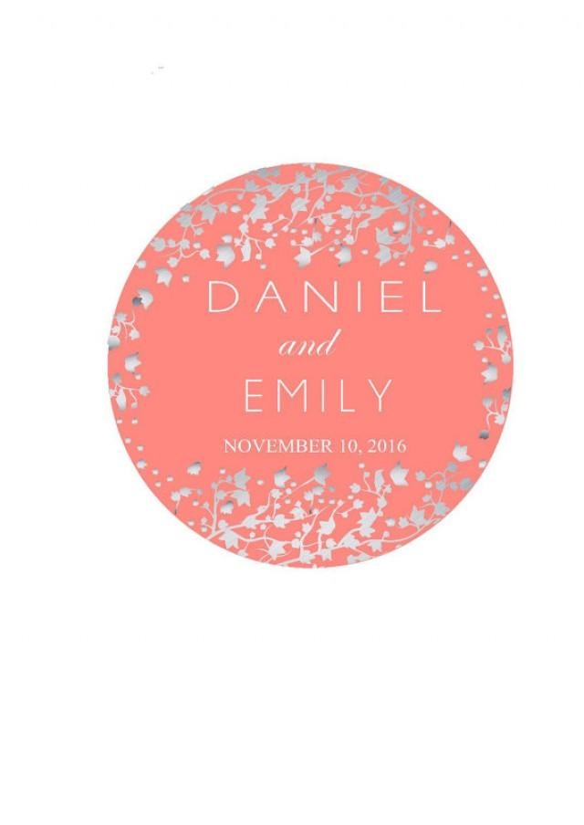 Wedding Favor Labels Personalized Wedding Stickers Thank You Sticker