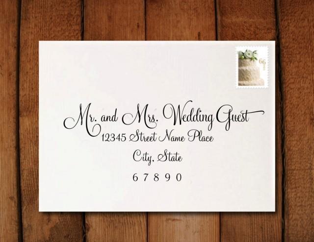 Addressing A Wedding Invitation: Wedding Invitation Calligraphy Digital Address Formatting