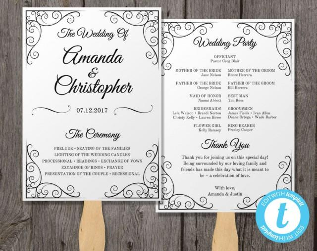 tagsfree wedding program fan template download amp print27 free wedding program templates youll lovefree wedding program templates wedding program ideas