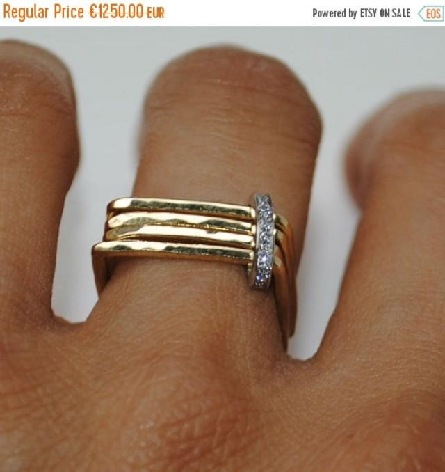 SALE 20% OFF Contemporary Engagement Ring