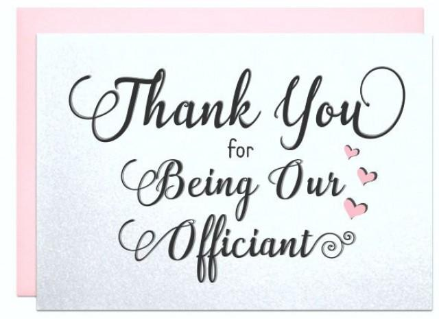Thank You For Being Our Officiant Gift Note Wedding Card To Ask Friend Priest Deacon Family Marry Us 2546515