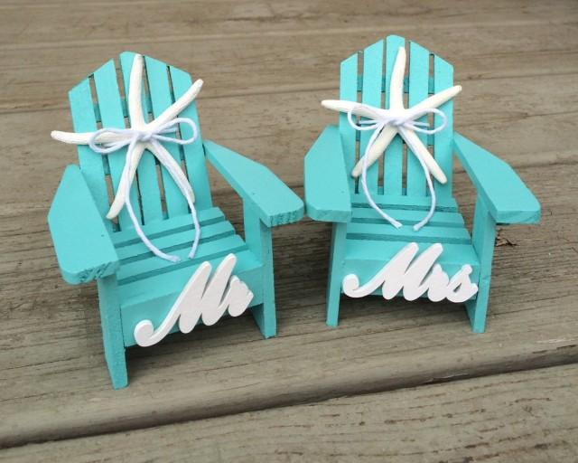 Wedding Cake Topper Mini Adirondack Beach Chair