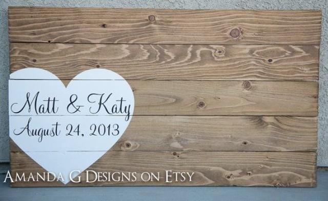Wedding guest book hand painted wood sign wedding guest book wedding guest book hand painted wood sign wedding guest book alternative with wrap around heart guestbook 2547600 weddbook junglespirit Choice Image