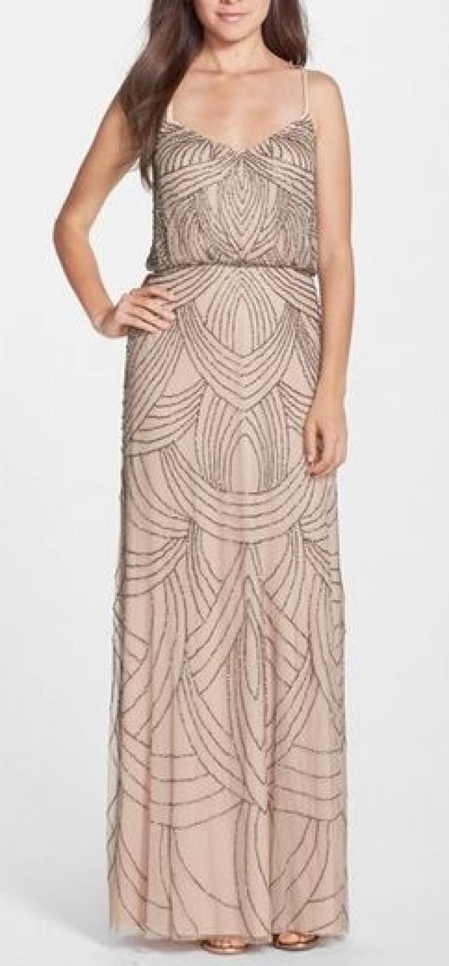 Adrianna Papell Beaded Chiffon Blouson Gown #2548020 - Weddbook