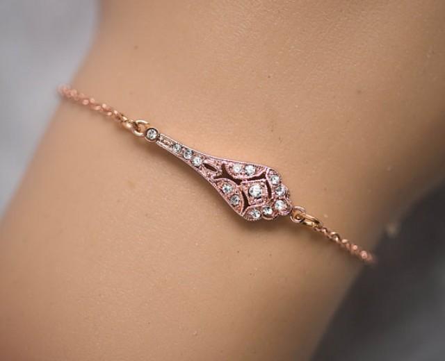 Slave Bracelet Rose Gold Silver 14k Rose Gold Filled Chain