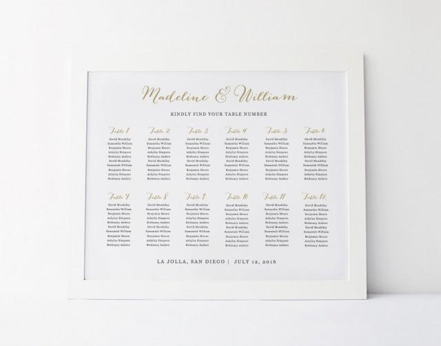 wedding seating chart template seating plan rustic seating chart poster editable table card. Black Bedroom Furniture Sets. Home Design Ideas