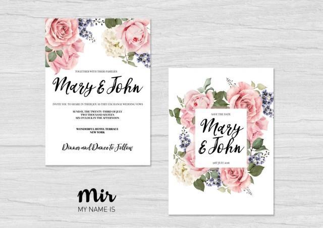 Wedding Invitation Card Download: Printable Wedding Invitation