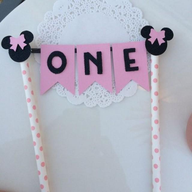 Wedding Theme Minnie Mouse Birthday Cake Topper 2550658 Weddbook