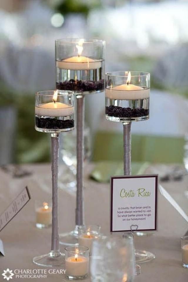 Candle Stand Centerpiece Vase : Tall glass cup vase tealight candle holder table
