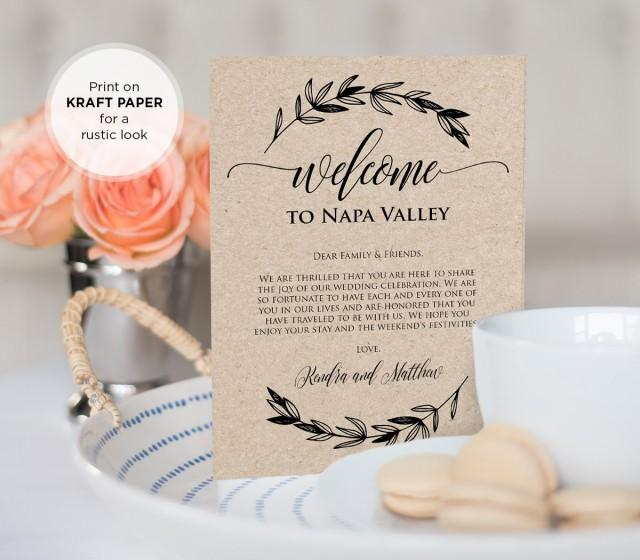 Wedding Welcome Bag Letter Insert