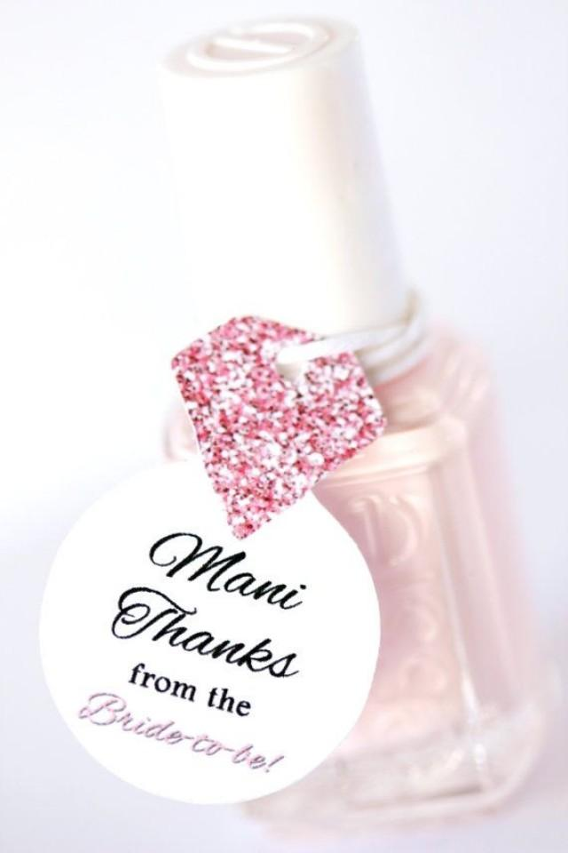 Nail Polish Favor Tags Thank You Favors Shower Favor Tags Bridal Wedding Shower Favor Tags
