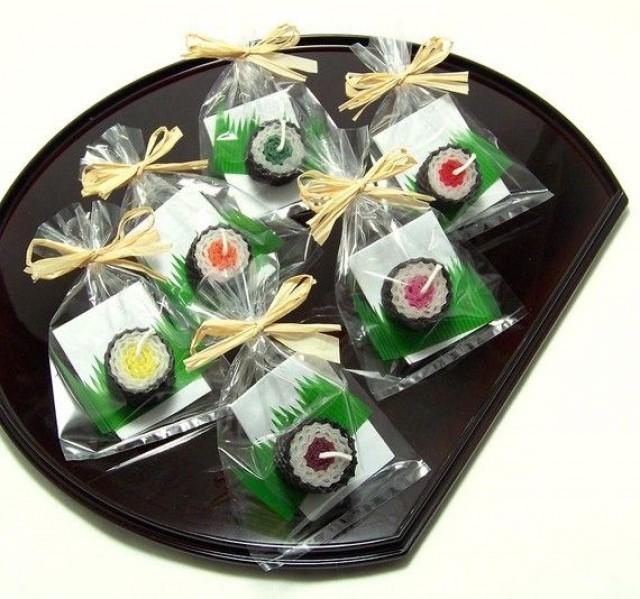 Sushi Party Favour Tekka Maki Sushi Candle Favor Beeswax