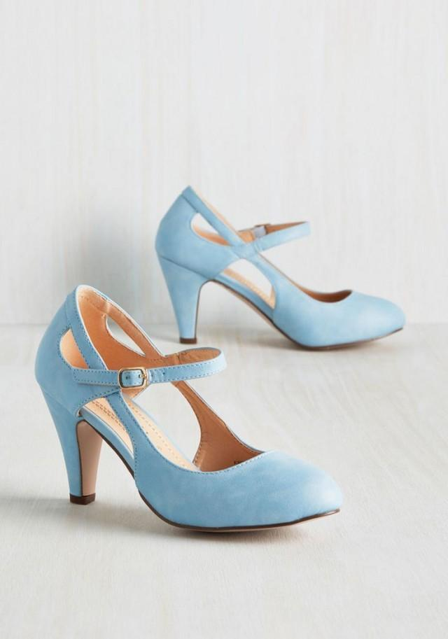 Wedding Theme Fountain Of Truth Heel In Dusty Blue