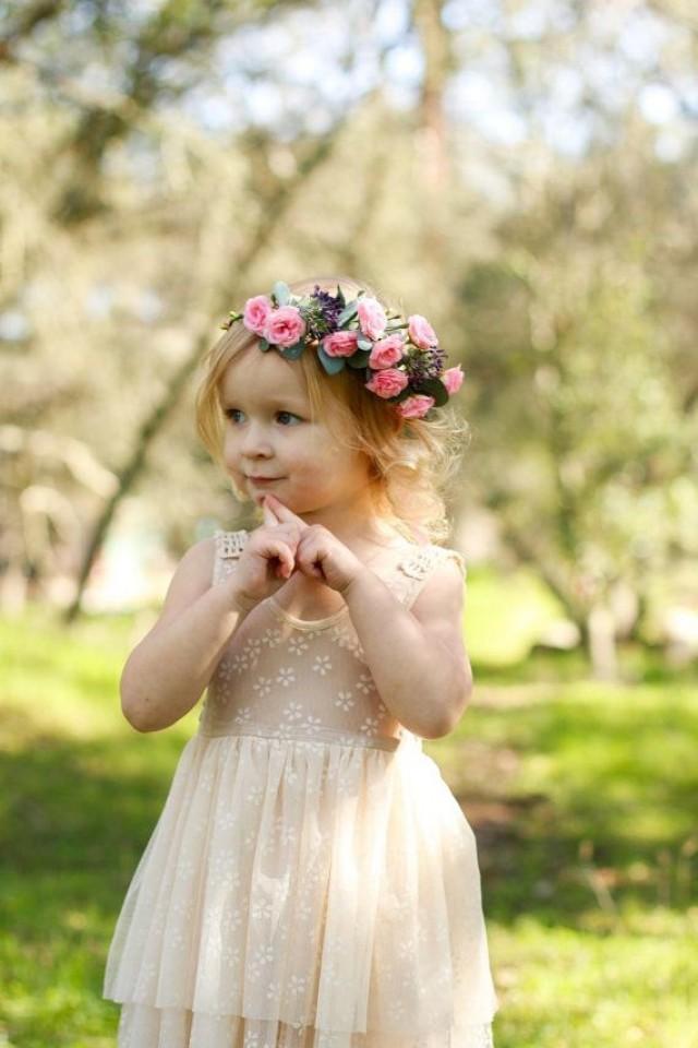 Baby Flower Crown Headband Girl Flower Crown Headband