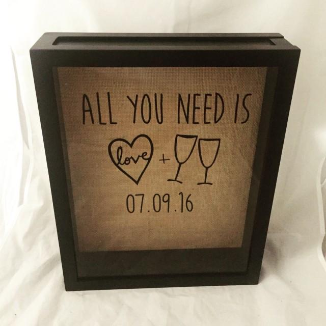 Wine Cork Shadow Box Wine Cork Holder Wedding Gift