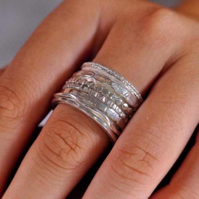Vintage Thick Silver Band Rings