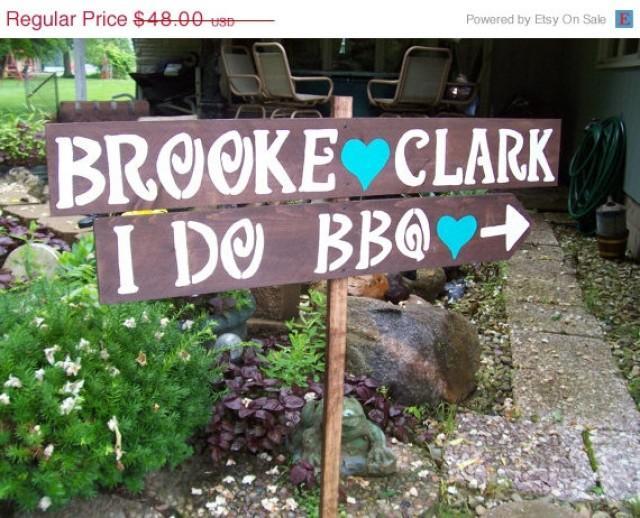 Rehearsal Dinner Sign , I DO BBQ Sign , Rustic Wedding