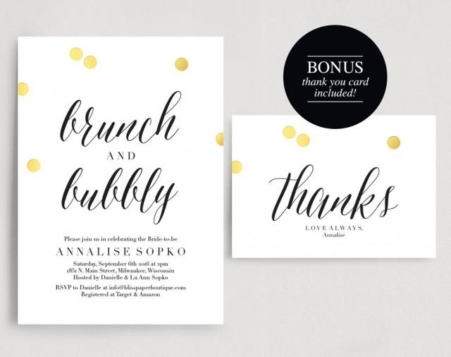 177071bd3698 Bridal Brunch Invitation