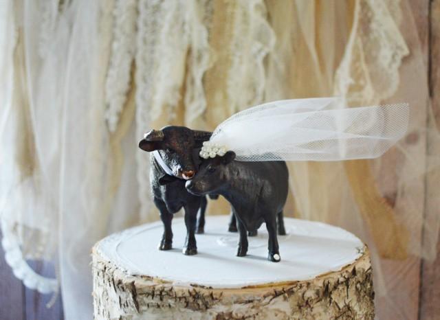 Cow Wedding Bull Bull Rider Cake Topper Groom S Cake