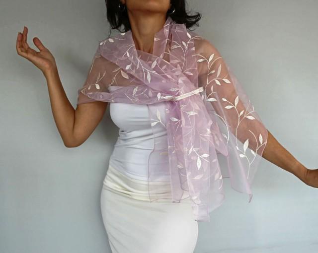 Bridal Shawl Wrap Bridal Shrug Bolero Stole Pink Roze