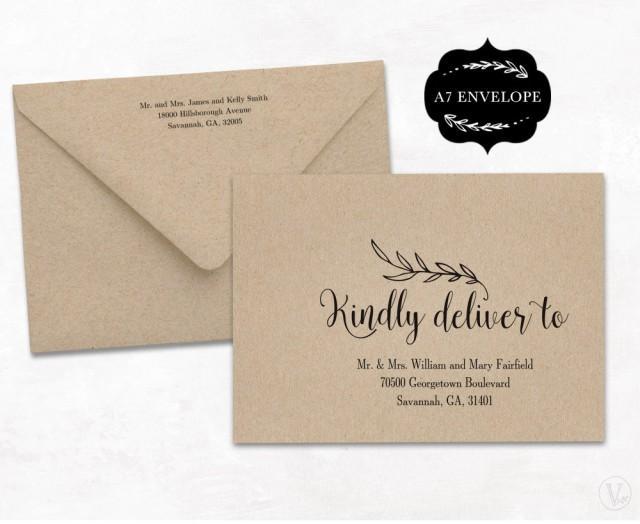 Diy Addressing Wedding Invitations: Wedding Envelope Template, Printable Wedding Envelope