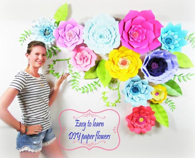Diy wedding decor diy giant paper flower backdrop diy paper flower diy wedding decor diy giant paper flower backdrop diy paper flower templates wedding and event decor ideas diy giant paper flowers 2559983 weddbook mightylinksfo