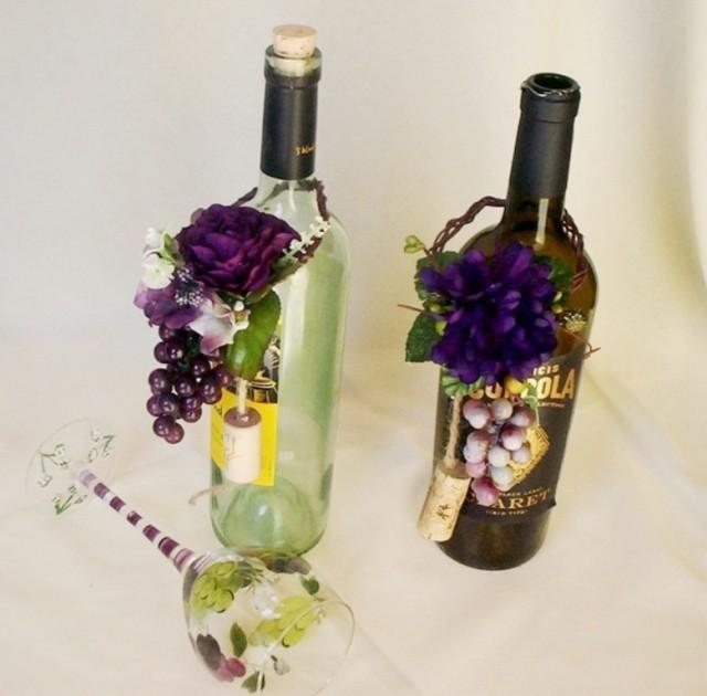 vineyard wedding wine bottle centerpiece grape purple topper bridal party shower favors reception decoration corks accessories stoppers 2560094 weddbook