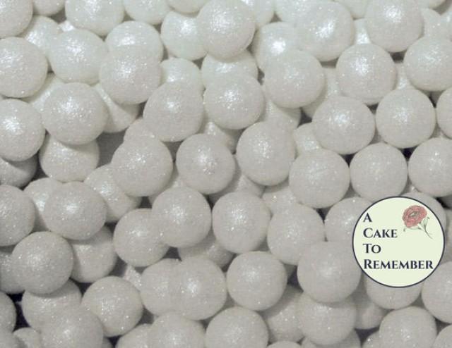 100 8mm Fondant Cake Pearls Sugar Gems For Cake Decorating Cupcake