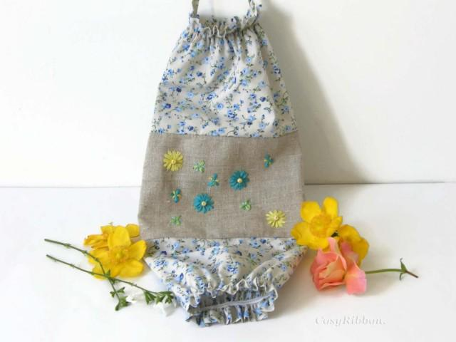 Blue And Yellow Plastic Bag Holder