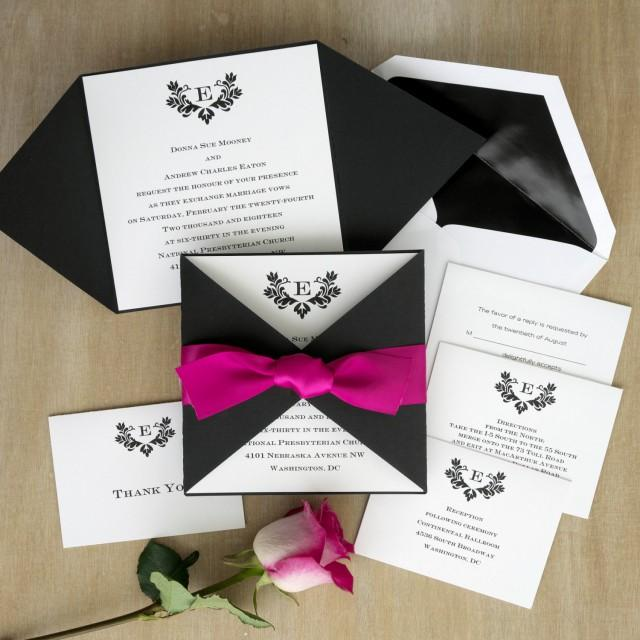 Initial Invitation With Folded Wrap