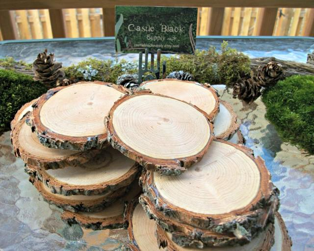3 Quot 4 Quot Wood Slices Set Of 25 3 Quot 4 Quot Wedding Tree Slices