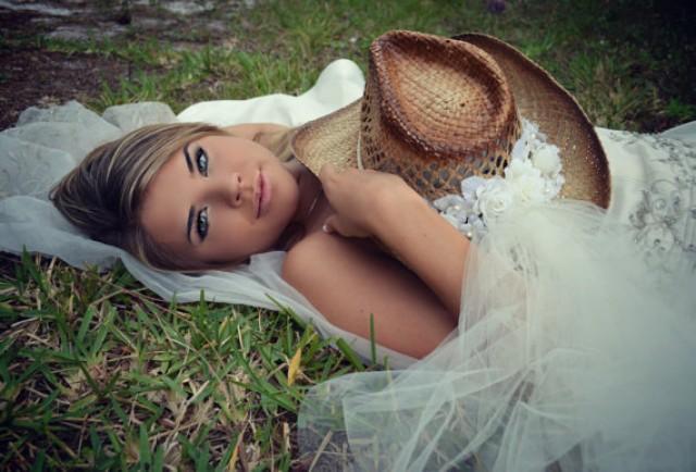 3d04cbffaf7c0 Wedding-cowgirl-bride-western wedding-cake topper-bachelorette-party-cowgirl  hat-veil-ivory-bachelorette hat-cowgirl boots-formal-hat