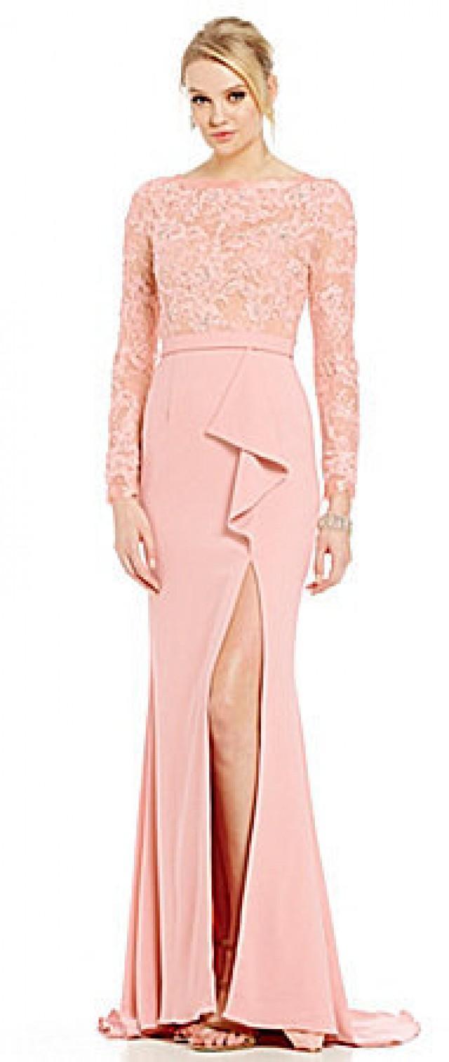 Terani Couture Beaded Lace Bodice Ruffle Peplum Gown #2564201 - Weddbook