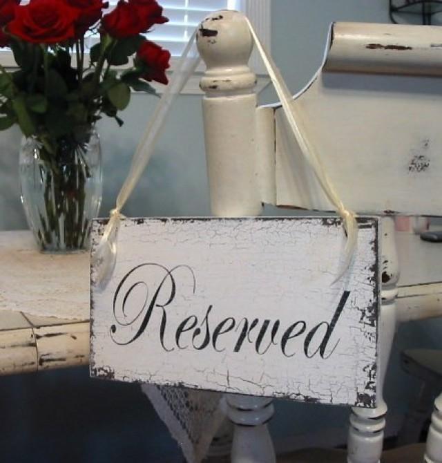 wedding sign  reserved sign  reserved  bride and groom