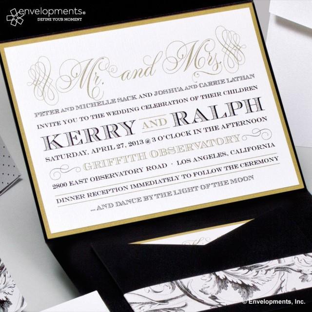 Elegant Gold Wedding Invitations Classic Black And Gold