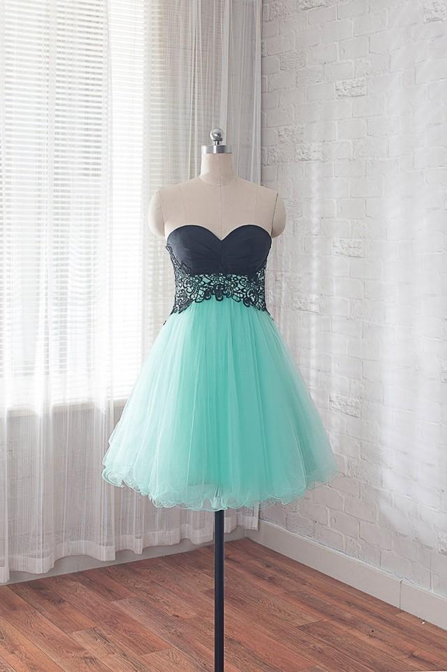 Short Prom Dress Mint Formal Dress Cocktail Dress For Teens