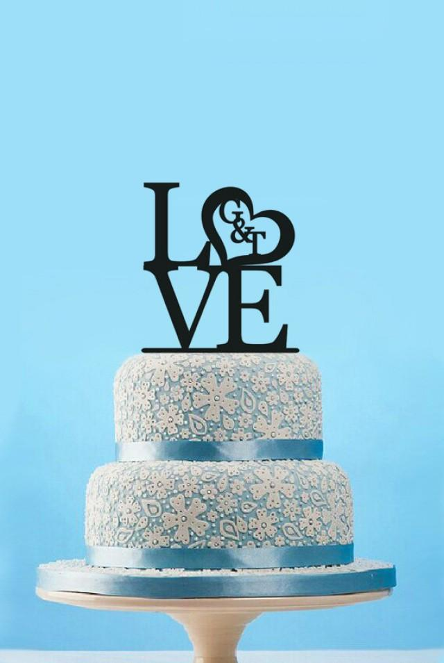 Love Sign Cake Topper Etsy