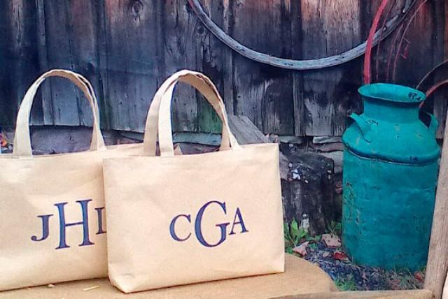 Personalized Bridesmaids Bag Set Of 7 Monogram Canvas