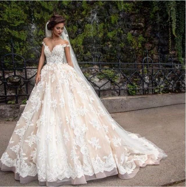 1920 S Vintage Lace Applique Princess Wedding Dresses Custom Make Champagne Dubai Arabic Off Shoulder A Line Wedding Gown Low Cost Wedding Dresses Photos Of Dresses From Gaogao8899 174 87 2568577 Weddbook,Wedding Dress For Plus Size Brides