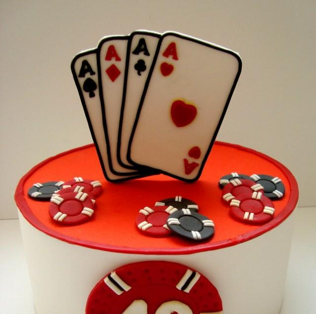 Casino Fondant Edible Cake Topper, Playing Cards Poker ...