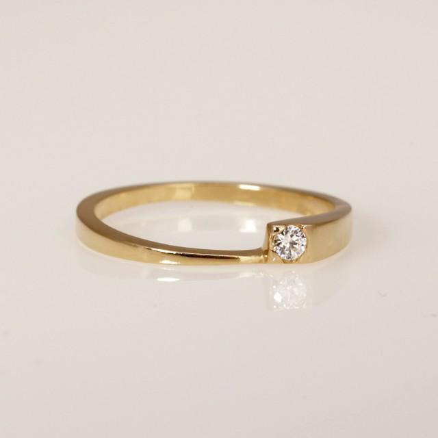 Diamond Wedding Ring Unique Engagement Ring Solitaire Diamond