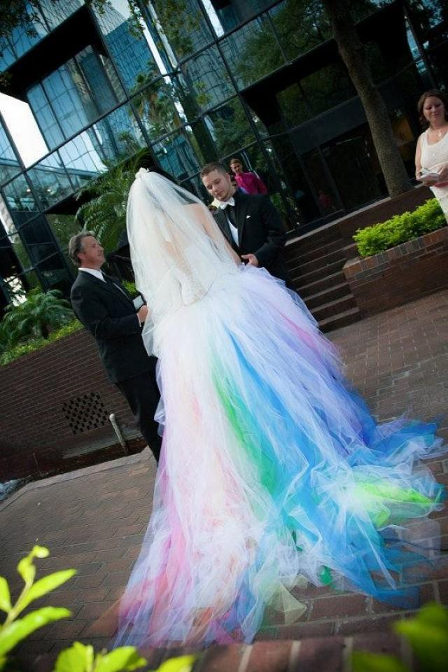 Wedding theme rainbow wedding dress 2569176 weddbook junglespirit Image collections